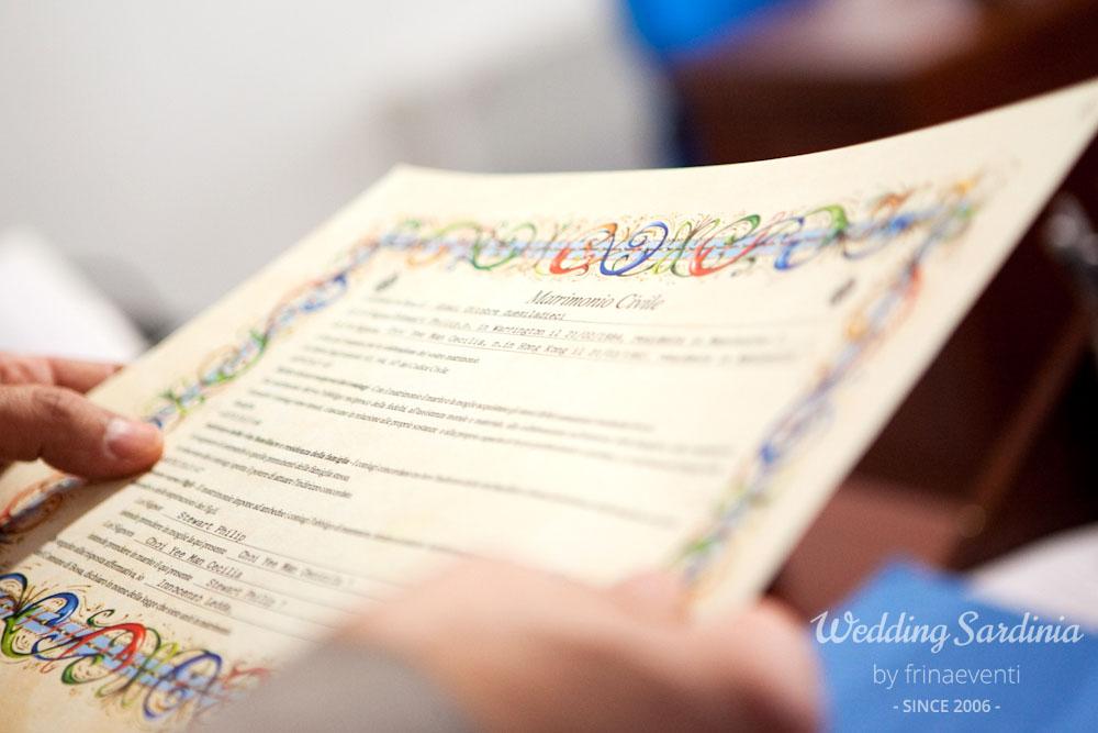 Civil Wedding Ceremonies In Sardinia