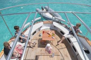 Wedding on boat in Sardinia