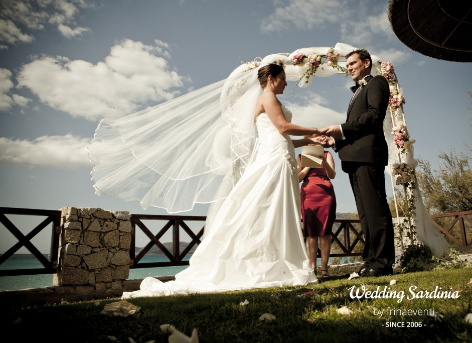 Garden ceremony in Sardinia