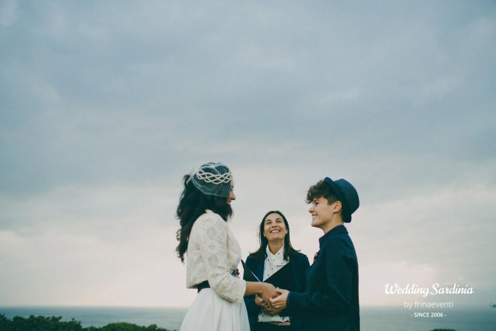same sex wedding in Sardinia