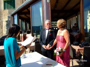 vow renewal in Sardinia